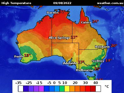 High Temperature Map