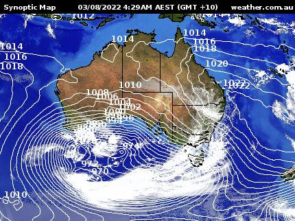 Weather.com.au - Synoptic + Satellite Map